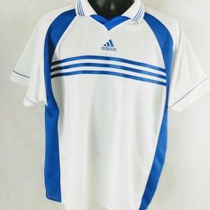 Vintage Adidas Mens Golf Mens Three Strip Shirt